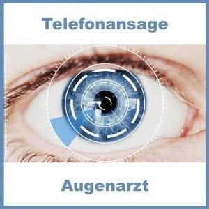Telefonansage Augenarzt